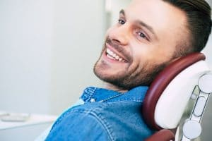 man confident about the success of upcoming cavity treatment
